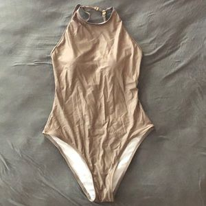Brown Shimmery One Piece